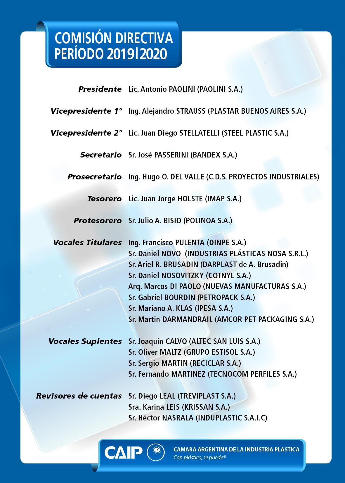 Comisión CAIP 2011 2012